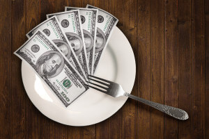 Dollars on a plate by Tax Credits