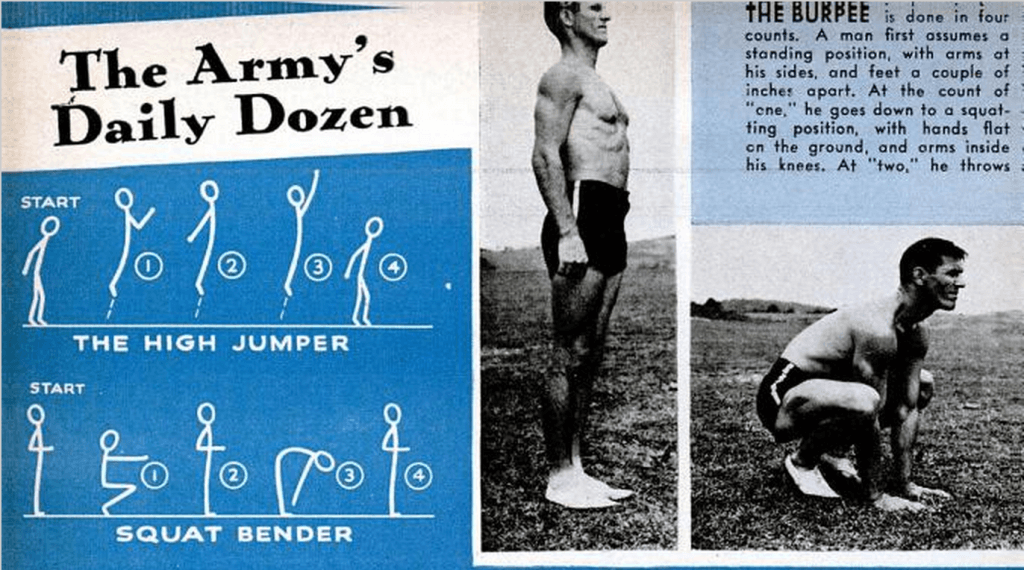 Popular Science Feb 1944 - Burpees for High-Intensity Interval Training - HIIT