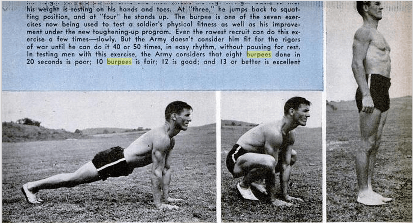 Popular Science Feb 1944 - Burpees for High-Intensity Interval Trianing